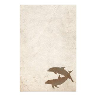Boda de playa rústico de los delfínes papeleria
