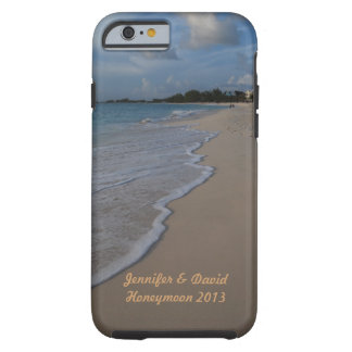 Boda de playa tropical de la isla funda para iPhone 6 tough