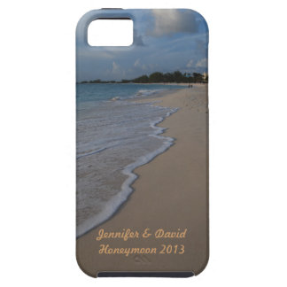 Boda de playa tropical de la isla iPhone 5 carcasa
