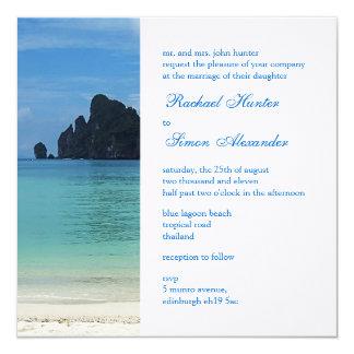 Boda de playa tropical hermoso Invitiation 2 Anuncio