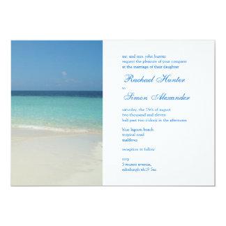 Boda de playa tropical hermoso Invitiation - lg Comunicados Personalizados