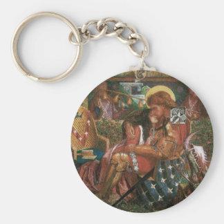 Boda de princesa Sabra Dante Rossetti de San Jorge Llavero Redondo Tipo Chapa