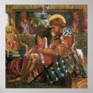 Boda de princesa Sabra Dante Rossetti de San Jorge Póster
