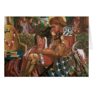 Boda de princesa Sabra Dante Rossetti de San Jorge Tarjeta De Felicitación
