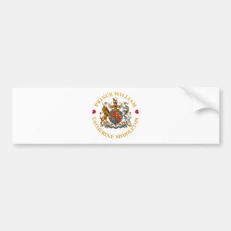 Boda de príncipe Guillermo y Catherine Middleton Etiqueta De Parachoque
