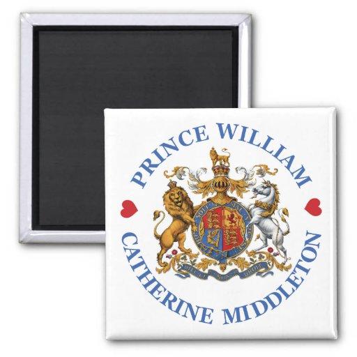 Boda de príncipe Guillermo y Catherine Middleton Imán Cuadrado