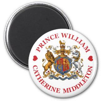 Boda de príncipe Guillermo y Catherine Middleton Imán Redondo 5 Cm