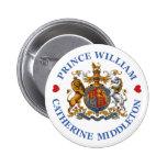 Boda de príncipe Guillermo y Catherine Middleton Pin Redondo 5 Cm