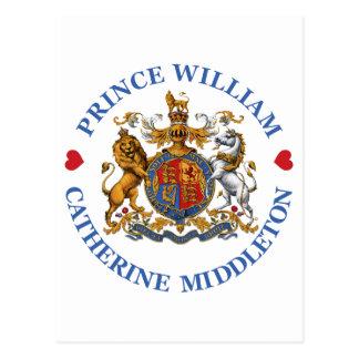 Boda de príncipe Guillermo y Catherine Middleton Postal