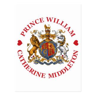 Boda de príncipe Guillermo y Catherine Middleton Postales