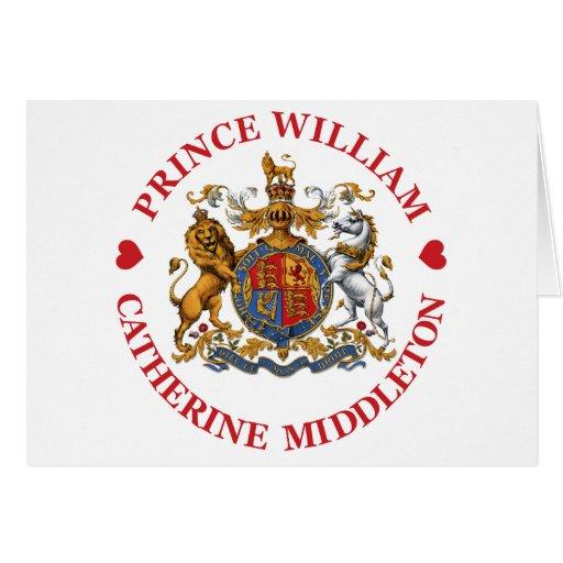 Boda de príncipe Guillermo y Catherine Middleton Tarjeta De Felicitación