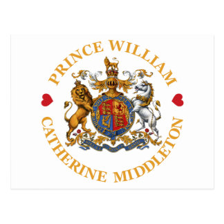 Boda de príncipe Guillermo y Catherine Middleton Tarjeta Postal