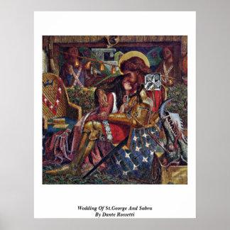 Boda de San Jorge y de Sabra de Dante Rossetti Impresiones