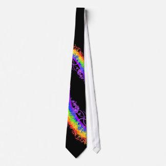 Boda de última hora del arco iris corbata personalizada