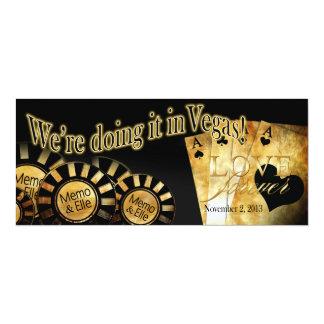 """Boda de Vegas de Elle (éntreme en contacto con Invitación 4"""" X 9.25"""""""