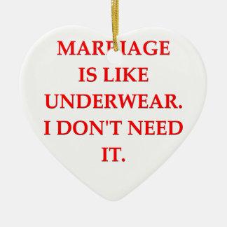 boda adorno de cerámica en forma de corazón