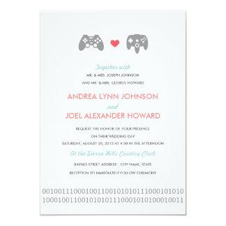 """Boda del amor del regulador del videojugador invitación 5"""" x 7"""""""