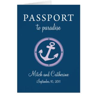 Boda del Caribe occidental del pasaporte de la tra Felicitaciones