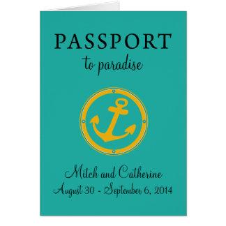 Boda del Caribe occidental del pasaporte de la tra Tarjetas