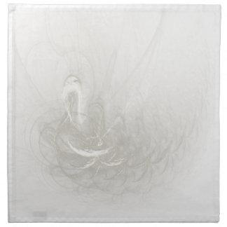 Boda del cisne de la eternidad servilleta imprimida