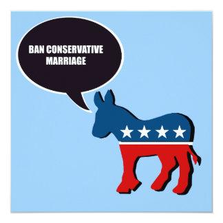 """Boda del conservador de la prohibición invitación 5.25"""" x 5.25"""""""