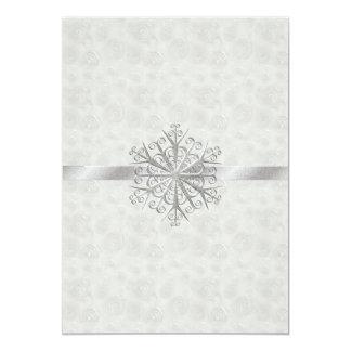 Boda del copo de nieve del blanco puro y de la invitación 12,7 x 17,8 cm