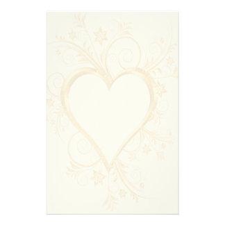 Boda del corazón del oro  papeleria de diseño