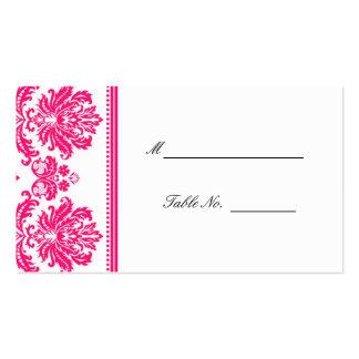 Boda del damasco de las rosas fuertes que asienta  tarjetas personales