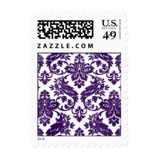 Boda del damasco del vintage de la berenjena sellos