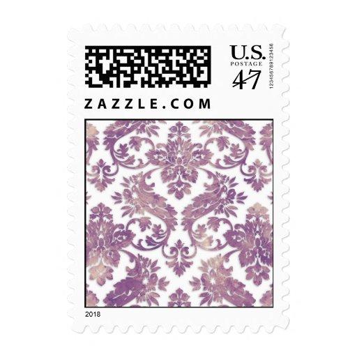 Boda del damasco del vintage de la lila sellos