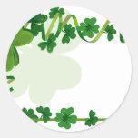 Boda del día de St Patrick Pegatina Redonda