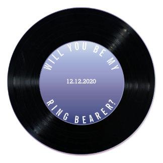 """Boda del disco de vinilo USTED SERÁ MI PORTADOR de Invitación 5.25"""" X 5.25"""""""