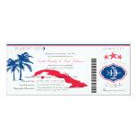 """Boda del documento de embarque de Cuba Invitación 4"""" X 9.25"""""""
