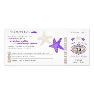 Boda del documento de embarque de las estrellas de invitacion personalizada