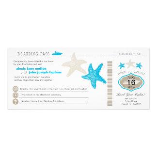 Boda del documento de embarque de las estrellas de anuncios personalizados