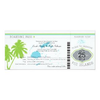Boda del documento de embarque de las Islas Fiji Invitación 10,1 X 23,5 Cm