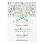 Boda del encanto del cordón y de las perlas del invitación 12,7 x 17,8 cm