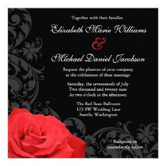 Boda del Flourish del rosa rojo