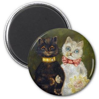 Boda del gato, Louis Wain Imán Redondo 5 Cm