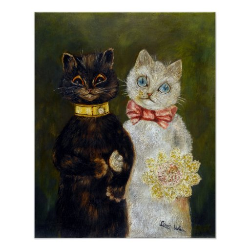 Boda del gato, Louis Wain Impresiones
