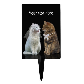 Boda del gato (personalizable) palillos de tarta