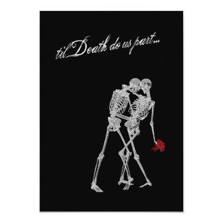 Boda del gótico de los esqueletos de novia y del anuncios personalizados