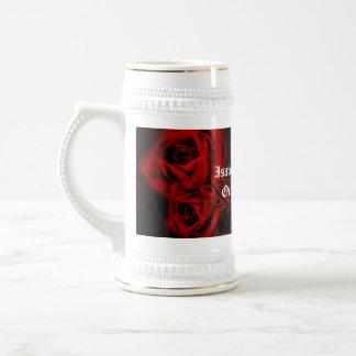 Boda del gótico de los rosas del vampiro taza de café