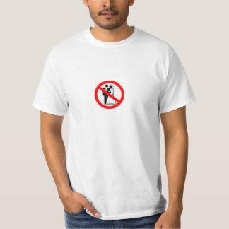Boda del heterosexual de la prohibición remeras