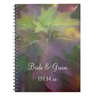 Boda del Hydrangea de la hoja del roble de la Cuadernos