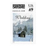 Boda del invierno del boda de las vacaciones de sello