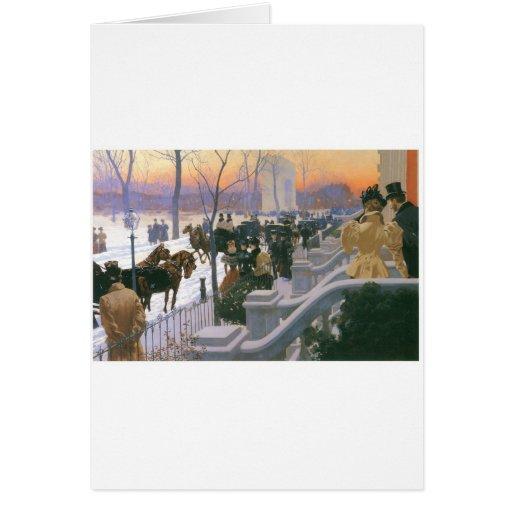 Boda del invierno en Washington C. cuadrada 1897 Tarjeta De Felicitación