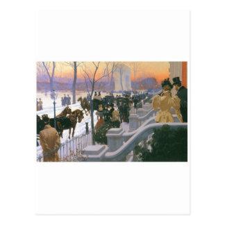 Boda del invierno en Washington C. cuadrada 1897 Tarjetas Postales