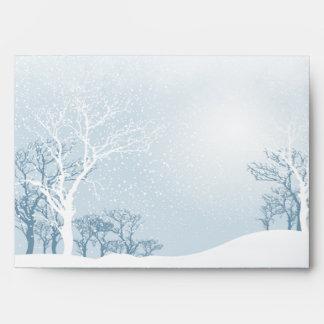 Boda del invierno Nevado - azul claro A7
