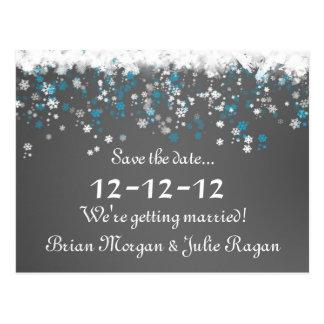 boda del invierno postales